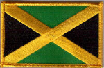 Jamaica Embroidered Flag Patch, style 08.